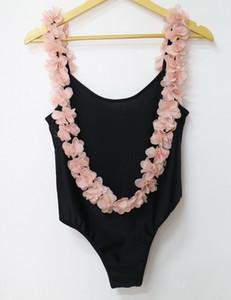 Women Bikini One Piece Swimsuit Backless Bodysuit Jumpsuit Flower Strap Nightclub Stretch Short Rompers White swimwear