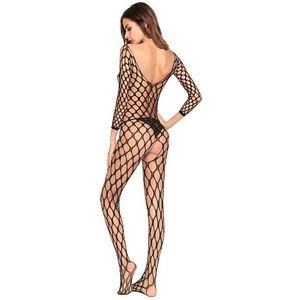 Europa e nos Estados Unidos Super Elasticidade Hollow Siamese Openwork Meias Sexy lingerie Open File Fishnet meias