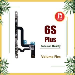 "Conector de controle de botão de volume flex cable para iphone 6 s plus 5.5 ""Com Placa de Metal Mudo Interruptor de Bloqueio Bottons Mic Silencioso RibbonParts"