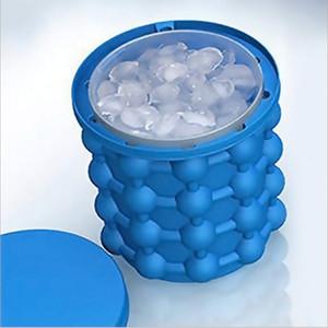 Silikon Ice Cube Maker Genie Devrimci Yer Tasarrufu Ice Cube Makinesi Buz Genie Mutfak Aletleri