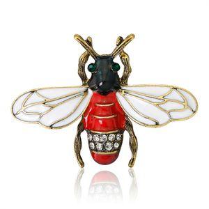 Mode Natürliche Insec tBee Broschen Tier Emaille Bee Bumble Spider Alloy Brosche Pins für Frauen