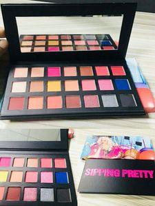 Mais novo Maquiagem por Sipping Pretty 21 Cores Paleta Da Sombra OLÁ! 21 set MAKEUP Aniversário Shimmer Matte Paletas Da Sombra de Olho