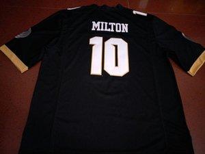 Hommes UCF Knights McKenzie Milton # 10 réel Broderie complète College Jersey Taille S-4XL ou personnalisé n'importe quel nom ou numéro de maillot