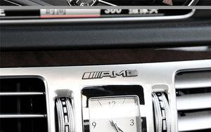 Mercedes Benz amg logo marca emblema pegatina calcomanía Volante rodamiento círculo Perilla de control central Interior del coche amg Pegatina de repuesto gratis