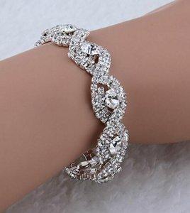 DHL Diamond Austrian Crystal Bracelet for Women Fashion Deluxe Elegant jewelry luxury Infinity Rhinestone Bangle party Gift ny
