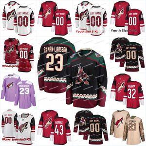 2018 Neue Saison 55 Jason Demers 33 Alex Goligoski Arizona Kojoten 47 Alex Grant 4 Niklas Hjalmarsson 43 Dakota Mermis Eishockeytrikots