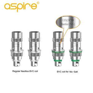 Authentic Aspire Nautilus BVC 0.7ohm 1.6ohm 1.8ohm Coil Nautilus AIO N-sal Bottom 1.8ohm Coil Vertical