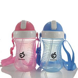 Elma Ayı Bebek İçecek Sippy Kupası Sızdırmaz Bebek İçme Kupası ile Kupası 280ML Şişe İçmeyi öğrenin