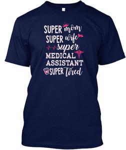 Sommer Die neue Mode Männer Rundhalsausschnitt Kurzarm Design-T-Shirts Medical Assistant - weiblich - Super Mom Frau Assistent