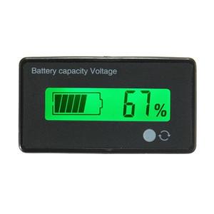 12V / 24V / 36V / 48V 8-70V LCD indicador de capacidade de bateria de lítio Indicador de voltagem digital