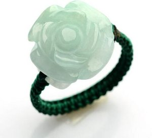 Car Jade Carveds Jade Circles Authentic Jade Handmade Women's Rings 00116