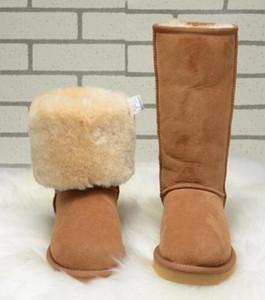 Бесплатная доставка 2018 высокое качество WGG женщин классический высокий загрузки женские сапоги загрузки снег загрузки зимние сапоги кожаные сапоги США размер 5 -- 13