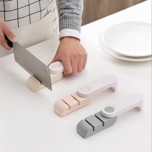 Dois estágios apontador de faca de cozinha, apontador de pedra faca de cozinha de facão doméstico LZ1464