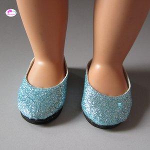 """1 par de 7.5cm MIMI Glossy Shoes para muñecas de 18 """"45 cm American Girl y Zapf baby doll doll accesorios"""