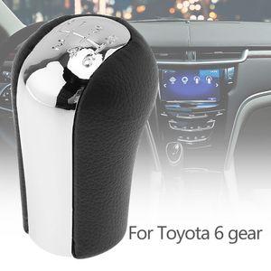 6 Hız ABS Plastik + Deri Manuel Şanzıman Vites Topuzu Toyota Corolla Verso Rav4 Yaris Avensis CIA_30O için Hentbol Topuzu