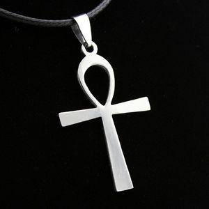 Мода АНК ключ крест из нержавеющей стали кулон ожерелье египетский таинственный символ Амулет древние Мужчины Женщины подарок древний АНКА крест