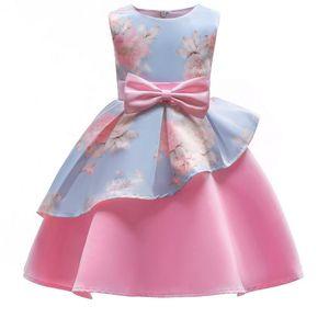 2018 primavera e no verão nova irregular saia de impressão saia do vestido frete grátis vestido de arco princesa vestido infantil das crianças