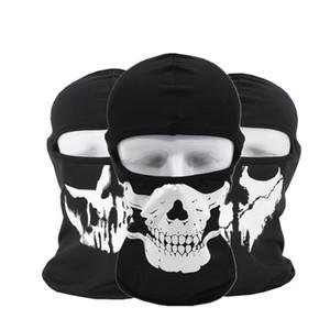 Halloween Gost Skull Máscara de la motocicleta Hood Full Face Mask Máscara de cara a prueba de polvo Cuello de la bufanda Headwear Sport Snood del casco