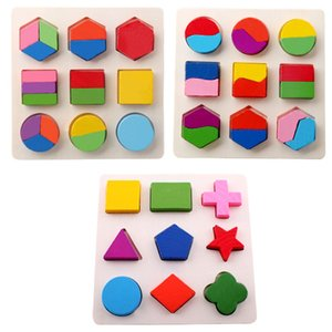 새로운 키즈 아기 목조 학습 형상 교육 장난감 퍼즐 어린이 조기 학습 완구 기하학적 모양인지 보드 나무 장난감