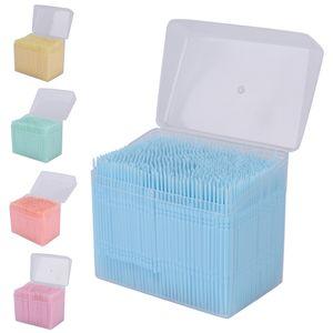 2 Yollu 6.3 cm İnterdental Fırça Diş Plastik Pick Diş Seçtikleri Ağız Hijyeni Kürdan 1100 Adet / kutu Toptan