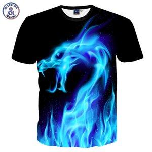 패션 쿨 티셔츠 남성 여성 3d Tshirt 인쇄 블루 화재 뱀 짧은 소매 여름 티 탑 T 셔츠 패션 폴리 에스테르