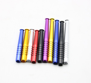 Aluminum Alloy Torch Appearance Pipes High Quality Tobacco Pipe Wholesale Smoking Pipe Length 55 78mm 100pcs