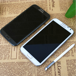 Samsung Galaxy Note II N7105 5.5inch Core 2G RAM 16 Go ROM 8.0MP Android 4.1 OS 4G LTE Téléphones remis à neuf
