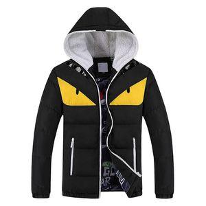 Yeni Moda kış sıcak erkek Parkas komik kapüşonlu ceket Plus Size M-4XL Aşağı Parkası