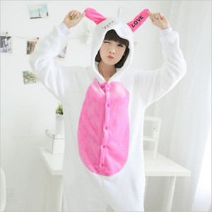 Cute Couple Onesie Pajamas Animals Cosplay franela con capucha pijamas para mujeres y hombres adultos Homewear grueso