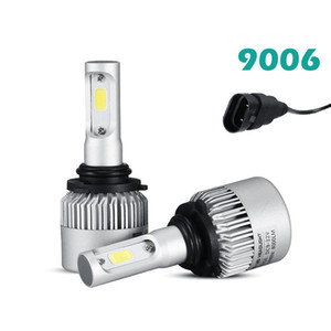 9006 (HB4) COB bricht Scheinwerfer-Installationssätze der LED-Birnen-Auto-Birnen-einzelner Lichtstrahl 8000LM / Paar 6500K Selbst geführte Scheinwerfer-Reihe der Scheinwerfer-S2 Reihen auf