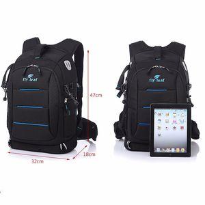 Fly-leaf FL 336 DSLR Photo Bag Camera Backpack Mochila universal de gran capacidad para la cámara Canon / Nikon Digital Camera