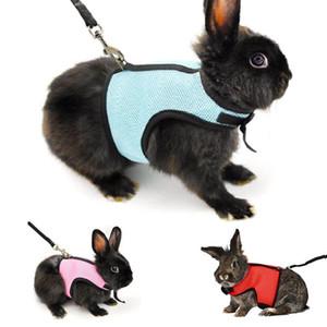 Küçük Pet Harness Tasmalar Yumuşak Nefes Koşum Hamster Tavşan Gine Domuz Sıçan Ferret Kedi için Tasma Kurşun