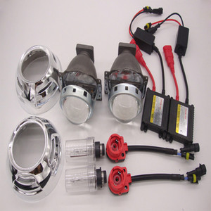 3,0 pouces Mini HID bi-xénon Projecteur lentille xénon Ampoules phares Kit D2S H4 H1 H7