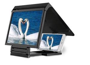 شاشة الهاتف المحمول المكبر المكبر عرض الفيديو 3D قابلة للطي الموسع المتوسع عيون حماية حامل