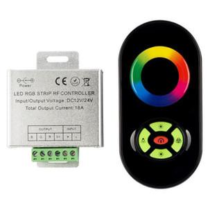 DC12V 24V 3 * 4A 12A Алюминиевый LED RGB Сенсорный контроллер RF RGB LED Контроллер лампы 5Key Беспроводной RF Диммер Сенсорный пульт дистанционного управления