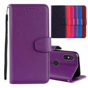 Lichia carteira de couro case para xiaomi 8 mi8 8se 6x redmi 6 pro 5 plus 4x 4a nota 4 Lichei Flip Frame Card Slot Leechee Luxo Capa Bolsa