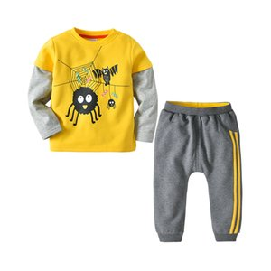 2020 autumn and winter new children's children's suit cartoon printing boy's long sleeve shirt two-piece clothing