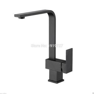 NOVO Ultra High Quality Modern Brass Solid Matte Black Single Handle Buraco Swivel Spout monobloco Deck Montado Kitchen Sink Faucet