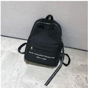 Прибытие мода Женщины сумки на ремне твердые Письмо печати нейлон студент школьные сумки девушка мальчик рюкзаки высокое качество бренды дорожная сумка