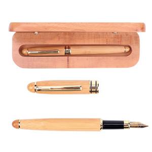 Nouvelle création Bamboo Pen encre 0.5mm Fontaine pour les cadeaux de décoration Bureau d'écriture Stylo-plume Papeterie