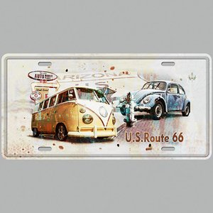 AUTO CAR BUS Rota 66 Super Hot 3D Gravar Retro Placas de Licença Do Vintage Placa de Lata de Arte Placa de Decoração para casa Pintura Em Metal Bar Bar Pub