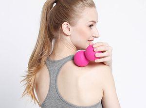 TPE арахис массаж мяч для пилатес йога - 5 цветов Myofascial релиз фитнес массажер ролик лакросс мяч массаж тела