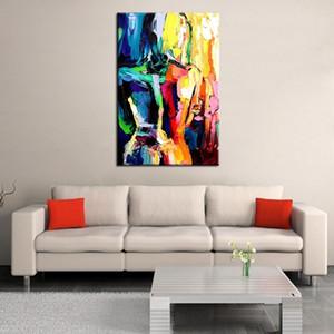 Cuchillo grande Sexy Women Wall Painting Pintado a mano abstracto desnudo Pinturas al óleo sobre lienzo Hecho a mano Home Decorative Art Pictures