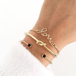 3pcs set Popular Charm Opening Bracelet Simple Trendy Beautiful Bangle Cuff Bracelet Party Jewelry Accessories Gift