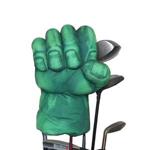 Гольф зеленая рука боксерский клуб обложка для водителя дерева 460cc гольф клуб головы, Животный шлем
