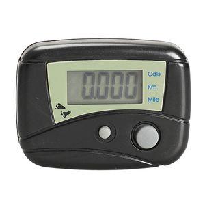 LCD عداد الخطى الرقمية خطوة عداد المشي مسافة السعرات الحرارية عداد الخطى الأسود