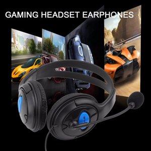 Fones de ouvido gaming headset ps4 com fio de fone de ouvido com microfone para sony ps4 playstation 3.5mm plugues do cabo macio partes da orelha