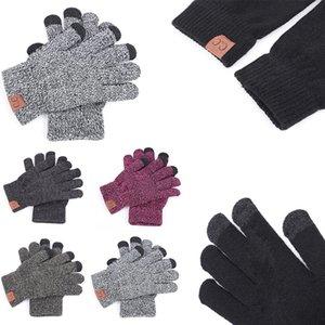 6Colors CC guanti a maglia solido inverno CC dita a maglia guanto portatile sport all'aria aperta Five Fingers Gloves 2pcs / pair TC181025