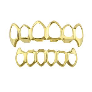 Завод Нижняя Цена Полые Зубы Grillz 4 Цвет Серебро Золото Розовое Золото Цвет Индивидуальные Grillz Дешевые Зуб Хип-Хоп Рэп Звезда Joyas