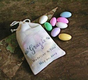 personnalisé mariage italien merci sacs de bonbons, soulagement de Bachelorette gueule de bois bijoux cadeau sacs sacs poches de mousseline sacs de cadeau